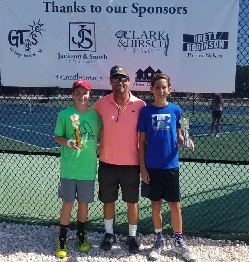 Boys 14 - Winner Zachary Regan of Mobile and Finalist Bryson Darr of Covington, La.