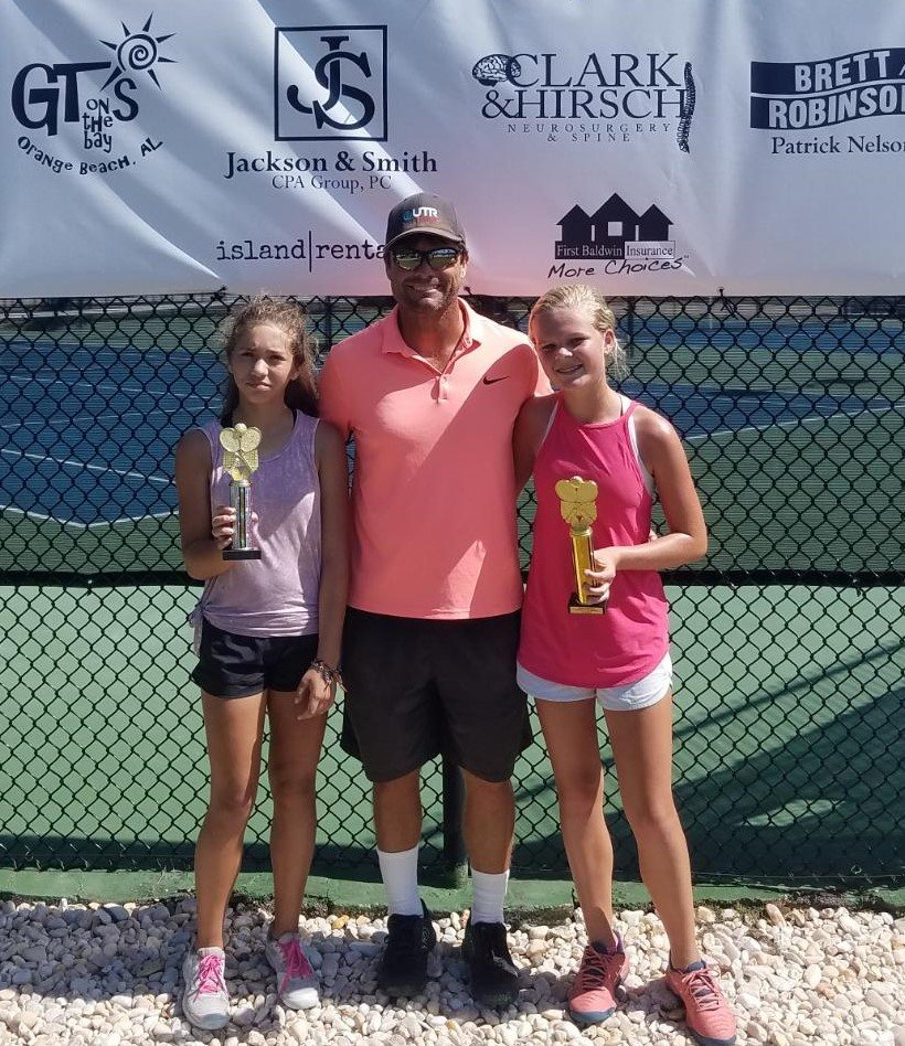 Girls 16 - Finalist Emily Grubach of Daphne and Winner Emme Clement of Mobile.