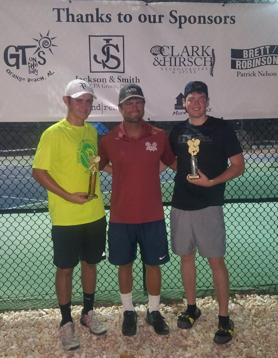 Boys 18 - Winner Gabriel Perkins of Satsuma and Finalist Jonathan Akins of Elberta.