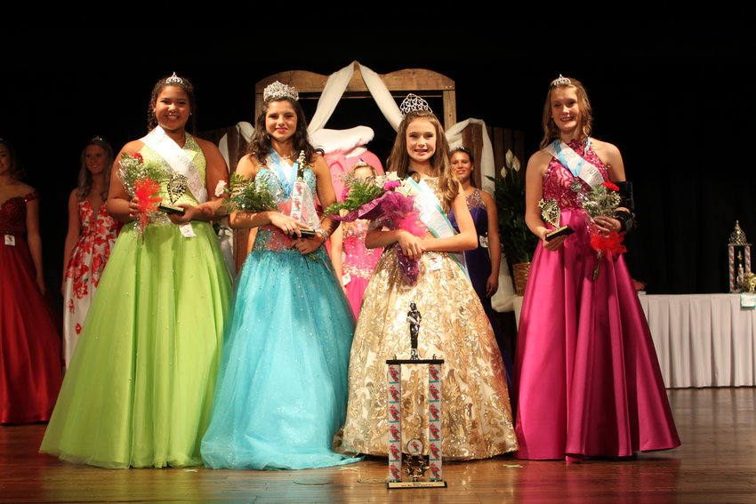 Junior Miss Shrimp Festival 2019: (from the left) Court Kayleigh Jade Davis, First Alternate Matalyne Grace Kroll, Junior Miss Raelynn Elkins, Court Anna Kate Michele O'Connor