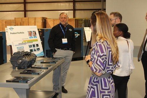 Following Friday's ribbon cutting, officials and the media were given a tour of the facility, led by Kaishan employees.