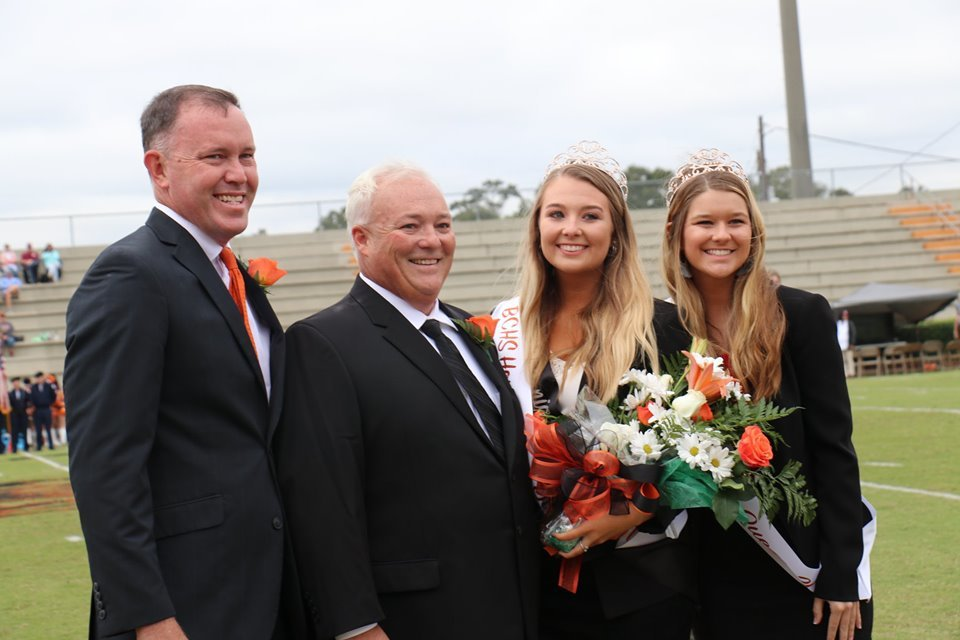 BCHS Principal Craig Smith, left, with Ashley Wilson, Allison Wilson and Mary Bradley Rodgers.