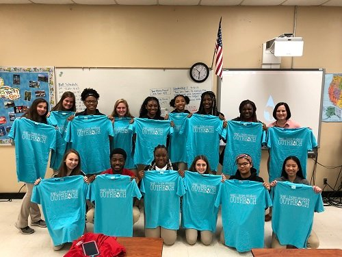 Allison Miller's Leadership Class at Theodore High School raised nearly $2,000 for Maji Hope and are working to raise more this year.