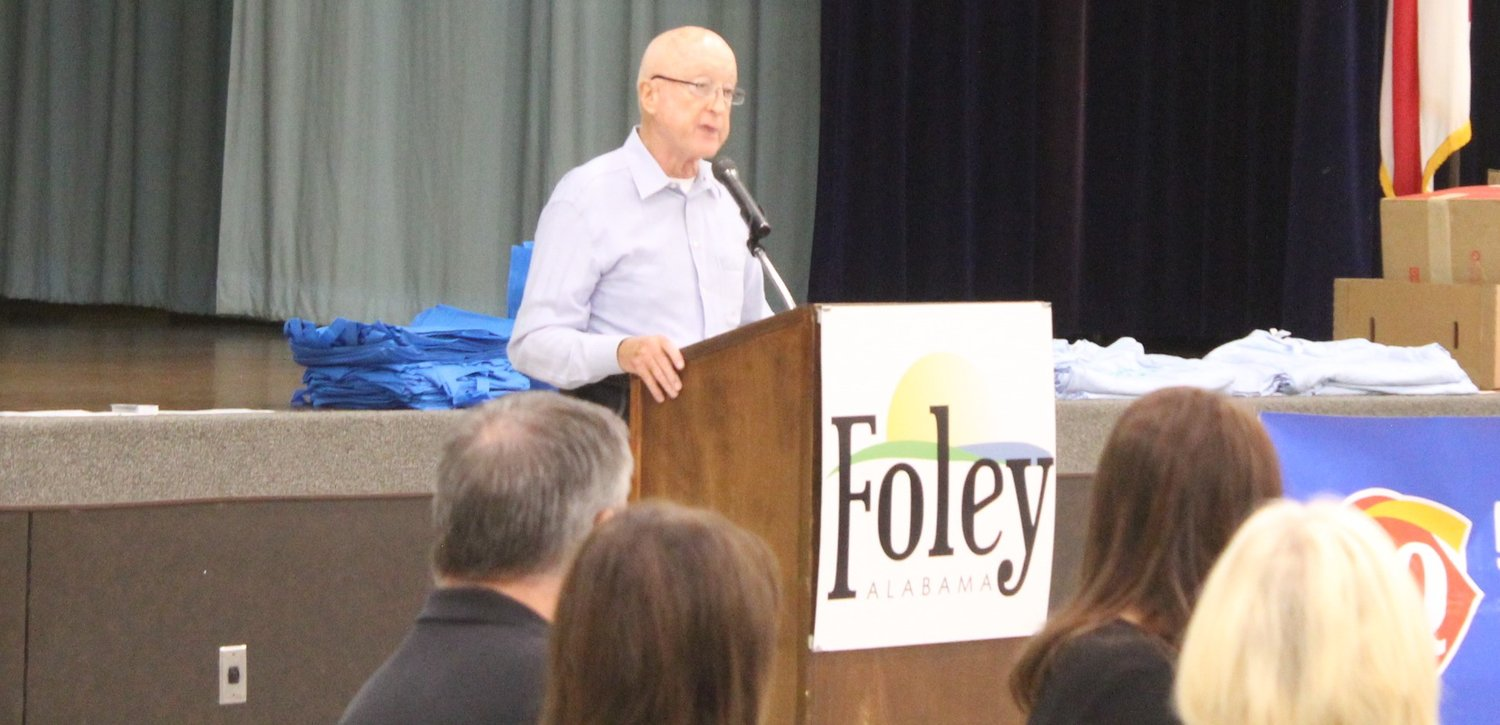 Friends of the Foley Library President Rusty Anglin.