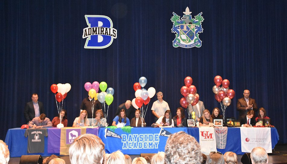 Bayside Academy Students Signing Letters of Intent Nov. 12.