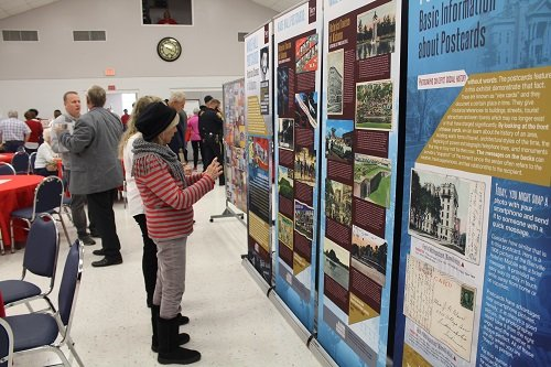 The event included several displays with historic information from the town.