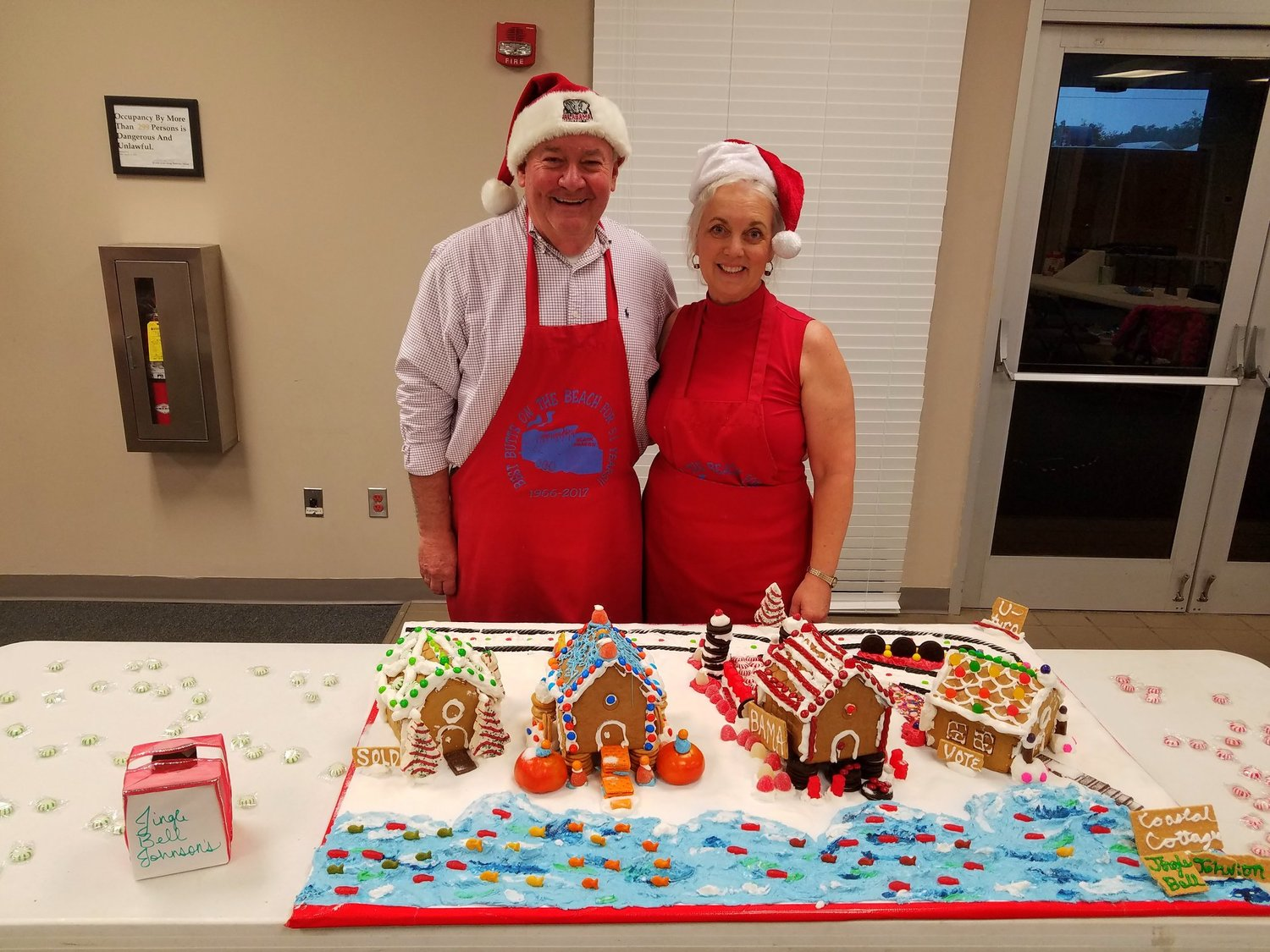 Jerry and Yolanda Johnson were the 2018 Gingerbread Jam winners for the Family Category.