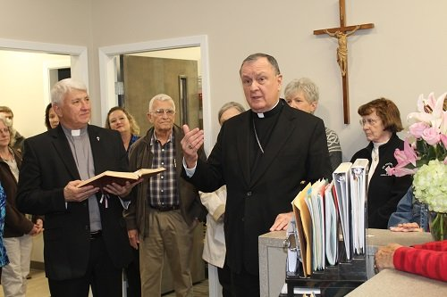 Archbishop blesses renovated and expanded Catholic Social Services