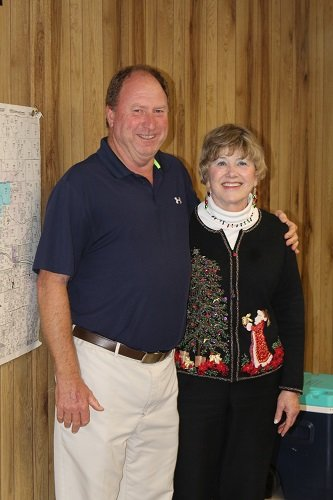 The town of Loxley held a reception for Council Member Katherine Breeden before its regular meeting on Monday, Dec. 9. Pictured with Breeden is Mayor Richard Teal.