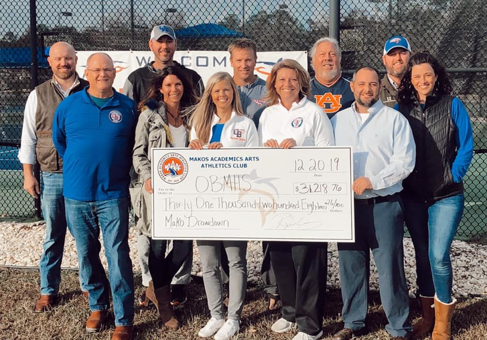 Over $31,000 was raised at the 2019 Mako Drawdown for Orange Beach Middle & High School. Thank you to everyone for all your support.