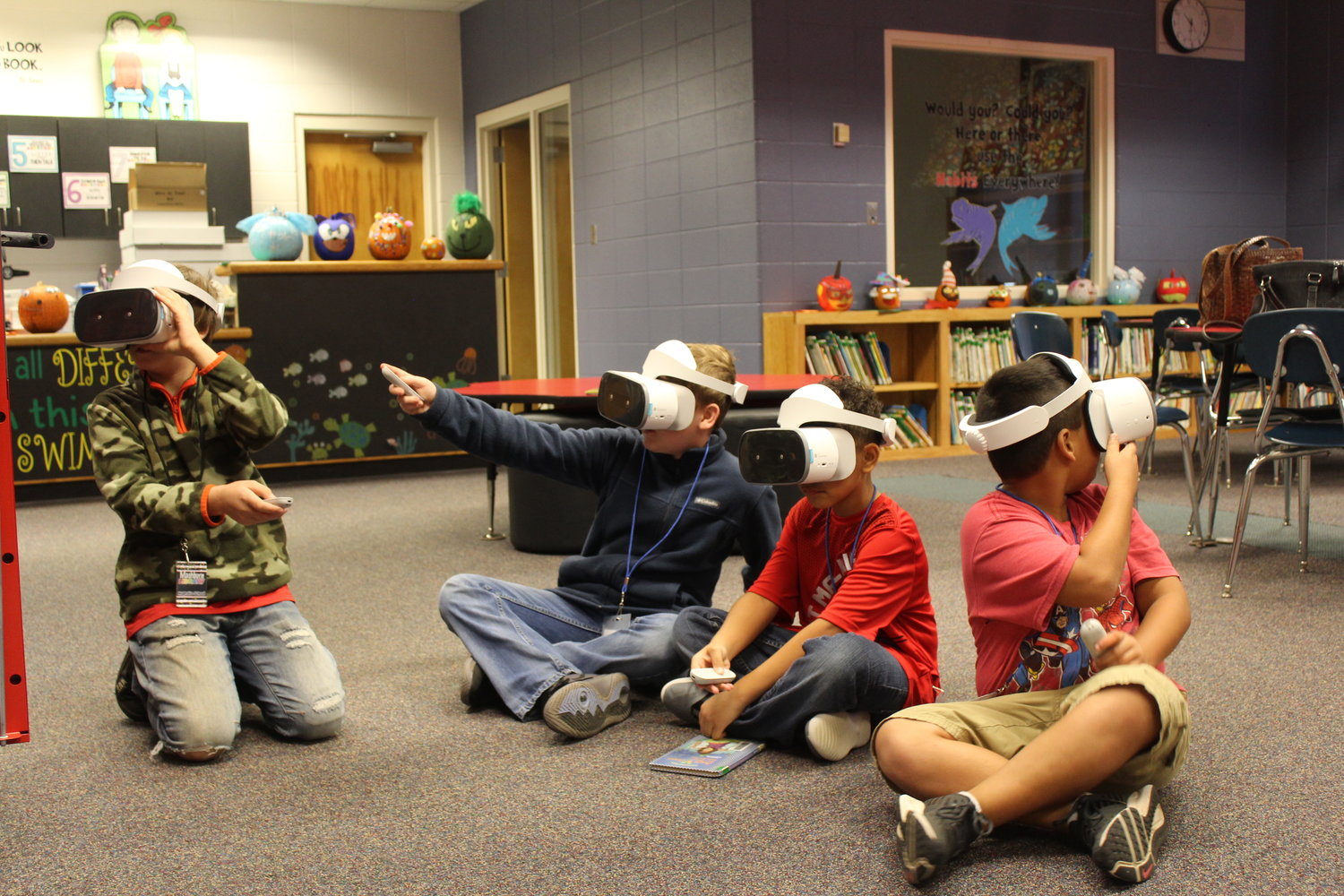 Students at Magnolia School experience VR for the first time.