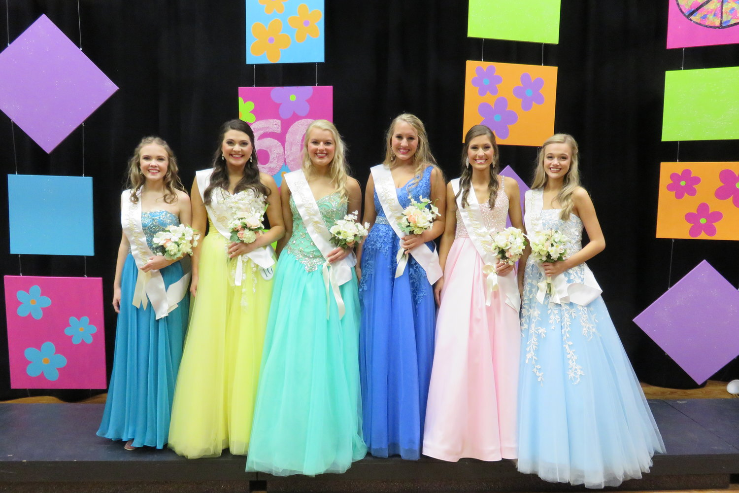 2020 Doogwood Court members are Lila-Camille Knizley, Hannah Beall, Anna Claire Kinsey, Sheridan Middleton, Molly Walding, and Hali Everette.