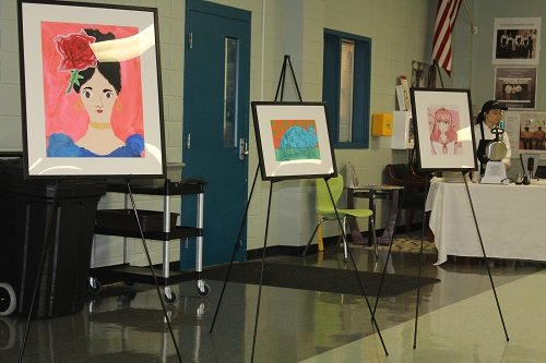Several pieces of artwork by students in Baldwin County Public Schools were featured during the January Superintendent's Breakfast.