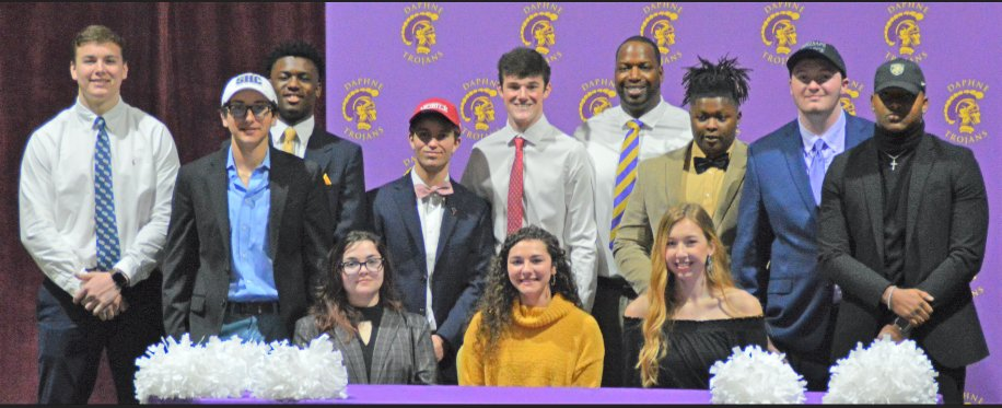 Congratulations to these Daphne High student athletes and their families.