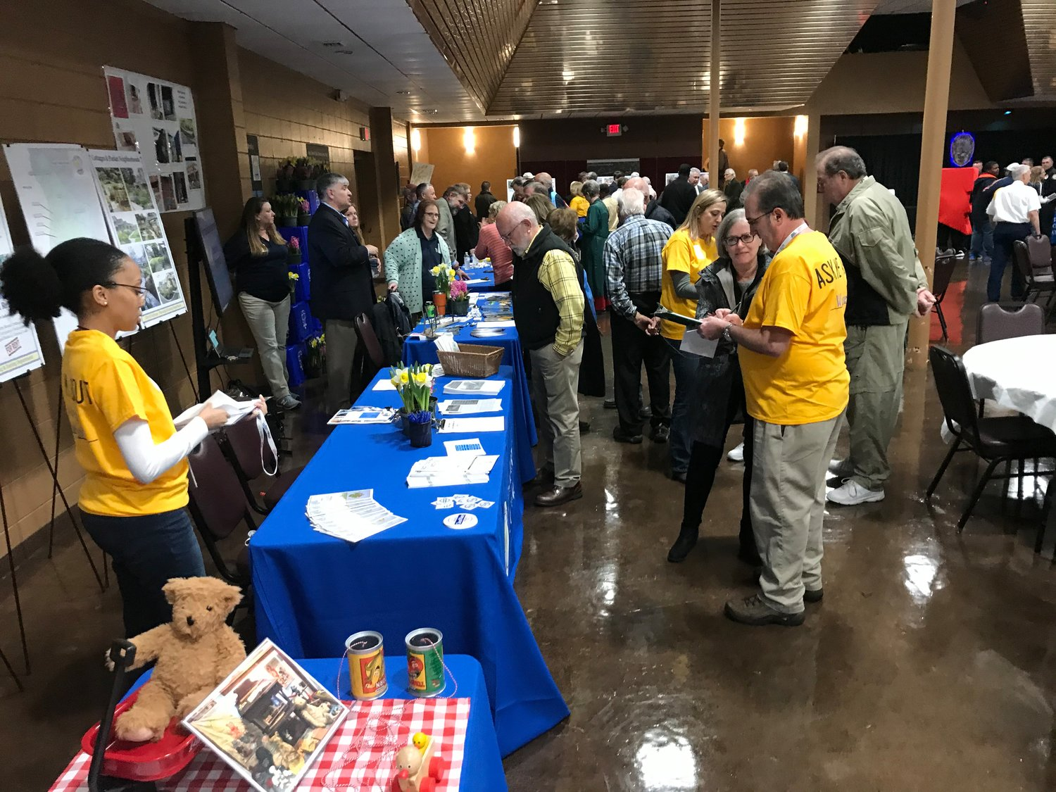 "Residents talk to Fairhope city employees during the annual ""State of the City"" event, Feb. 6 at the Civic Center."