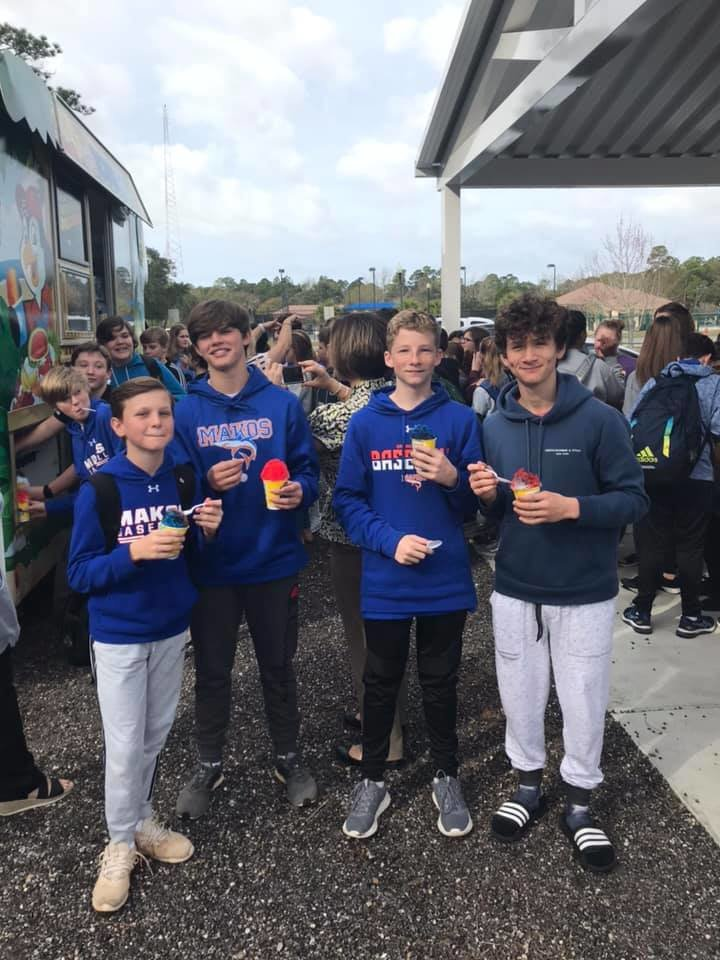 Orange Beach Middle School's January attendance challenge winner was the seventh grade. They were awarded with Kona Ice.