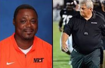 South Head Coach, Earnest Hill (McGill-Toolen Catholic) and North Head coach, Jeff Smith (Walter Wellborn High)