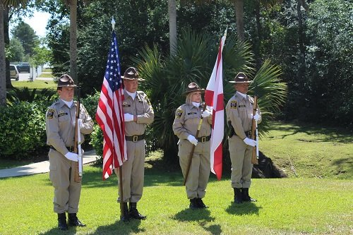 Presentation of Colors by the Baldwin County Sheriff's Department Honor Guard.