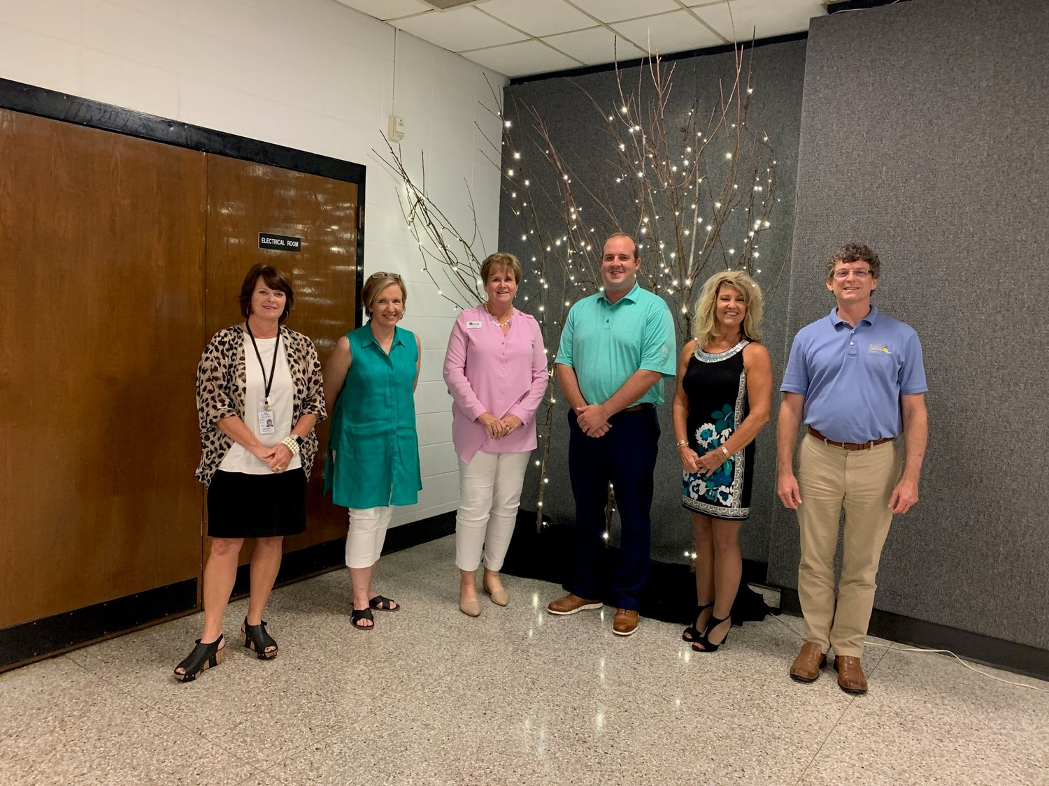 From left to right: Sherry Sullivan, Chair Design Committee; Deborah Mixon, committee member; Darrelyn Dunmore, Foley Main Street Executive Director; Casey Rodden, Treasurer of Baldwin County Trailblazers, Inc.; Brenda Shambo, committee member; and City of Foley Councilman Charlie Ebert.