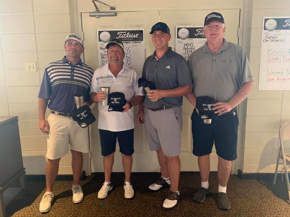 Winners: T&M Heating & Air Conditioning won the inaugural tournament with team members, from left, Bobby Crawford, Mack Byrd, John Hartner and Billy Wilkins.