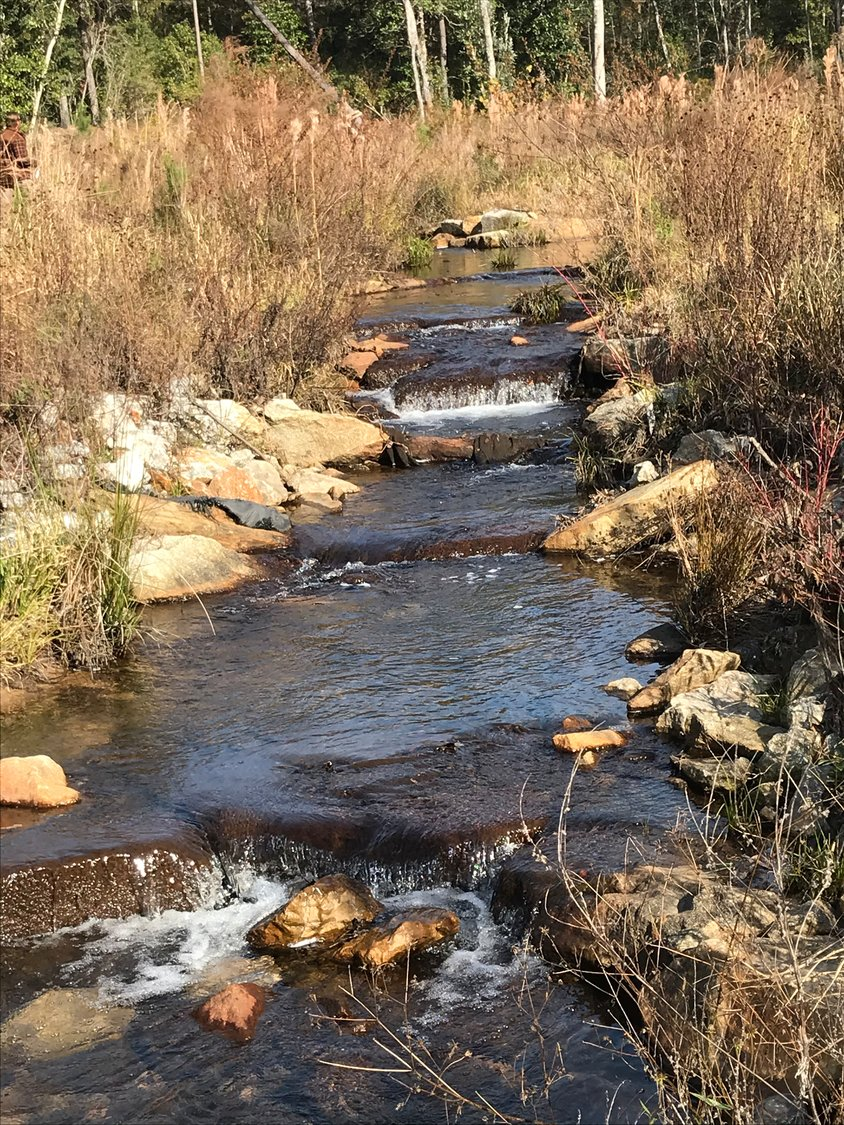 Improvements on D'Olive Creek designed to slow erosion are part of the watershed management plan.