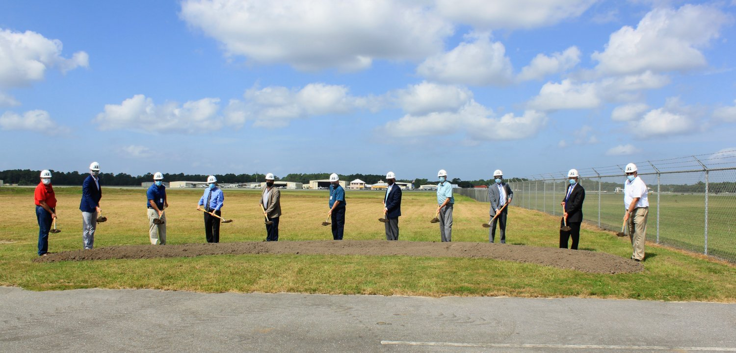 Stakeholders from Gulf Shores and Orange Beach gathered Friday to break ground on a state of the art 65-foot air traffic control tower at Jack Edwards National Airport.