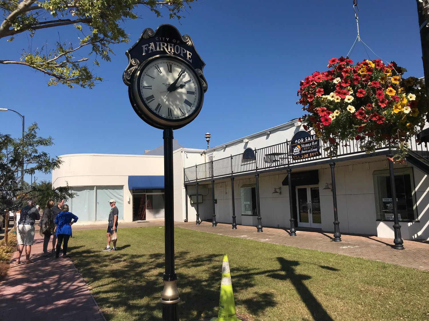 Only one more soil test will be needed at the corner where the Fairhope city clock is located, officials said.