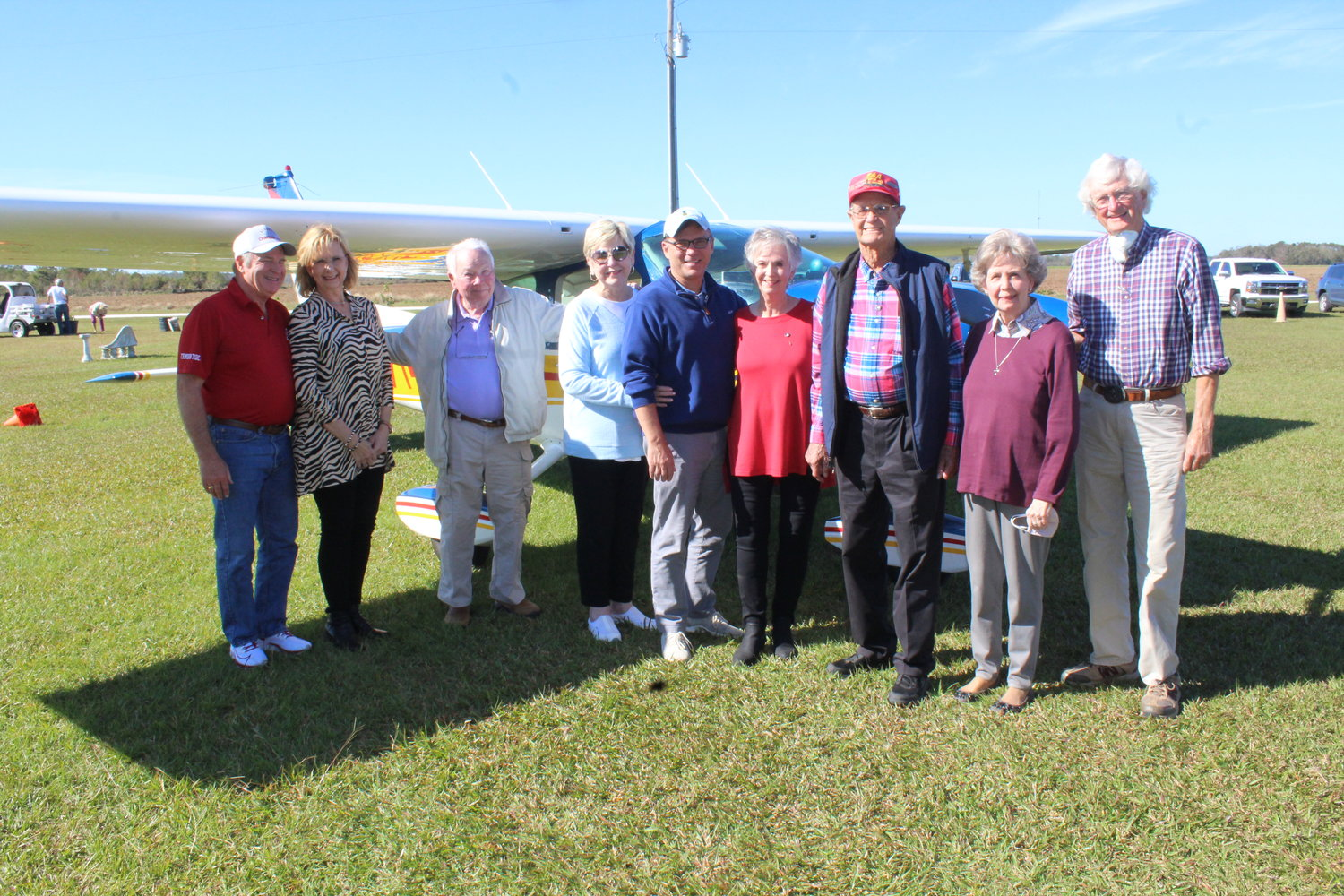 Ray and Rita Reeves surrounded by family following a ceremony held Nov. 21 in Magnolia Springs.