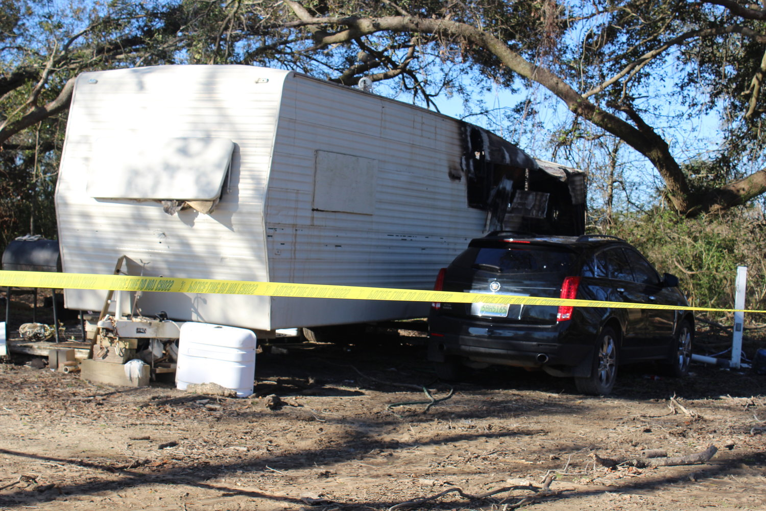 Fire destroyed this RV in the early morning hours Monday, Jan. 4 at Sandy Toes RV Park, claiming the life of 62-year-old Steven Dollhofer.