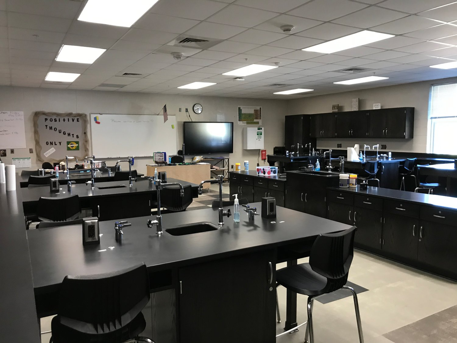 A chemistry lab in the new wing of Spanish Fort High School.