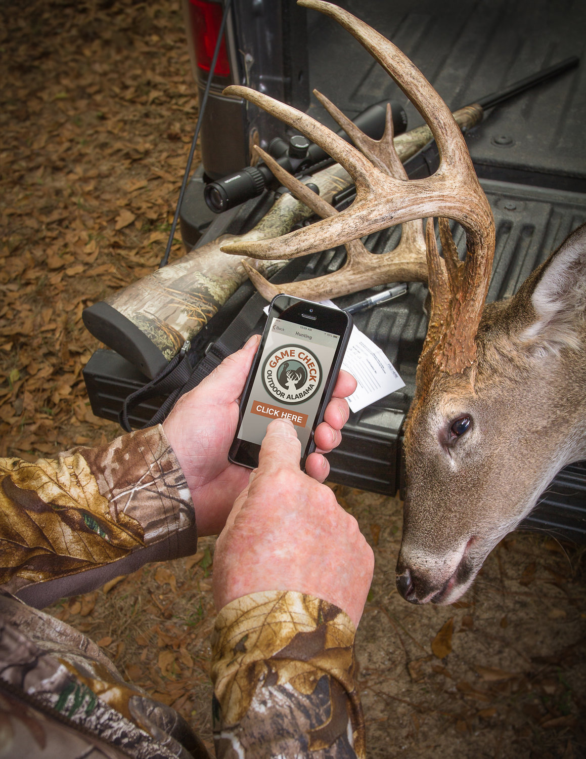 Hunters in Alabama can now use the reactivated 800 number to report harvests of deer and turkeys. The Outdoor AL app continues to be the most popular and easiest way to comply with the Game Check requirements.