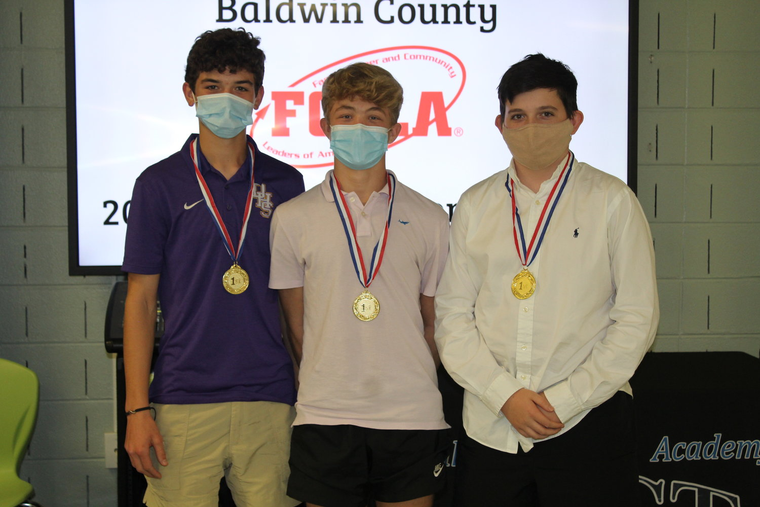 Daphne Middle School, first place, Sports Nutrition, Level 1.