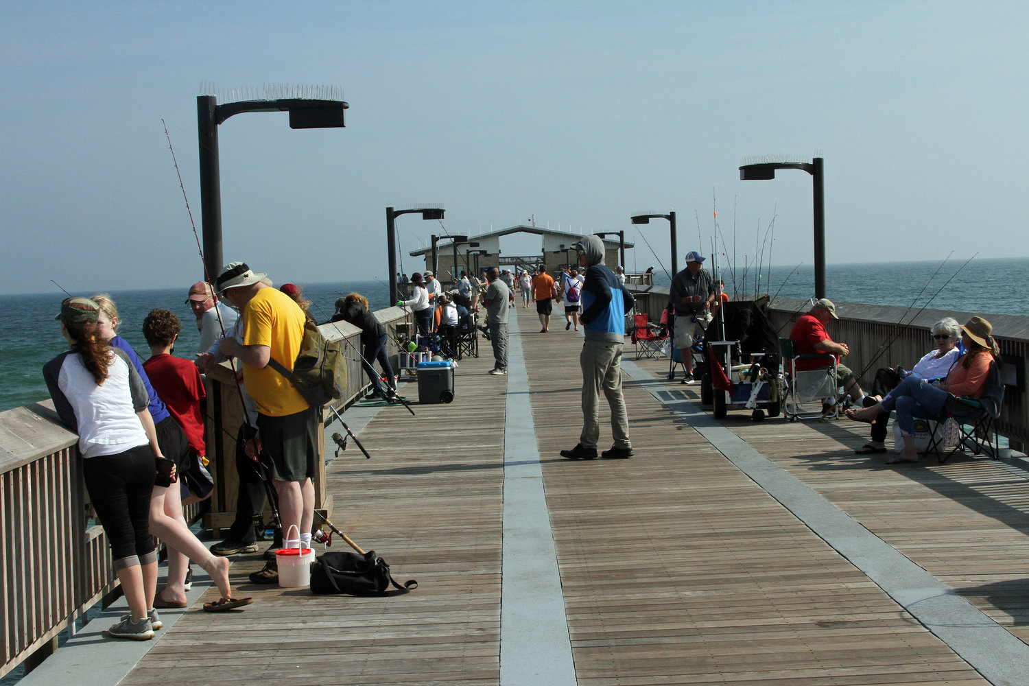 Anglers and sightseers have flocked to the pier since a portion was reopened