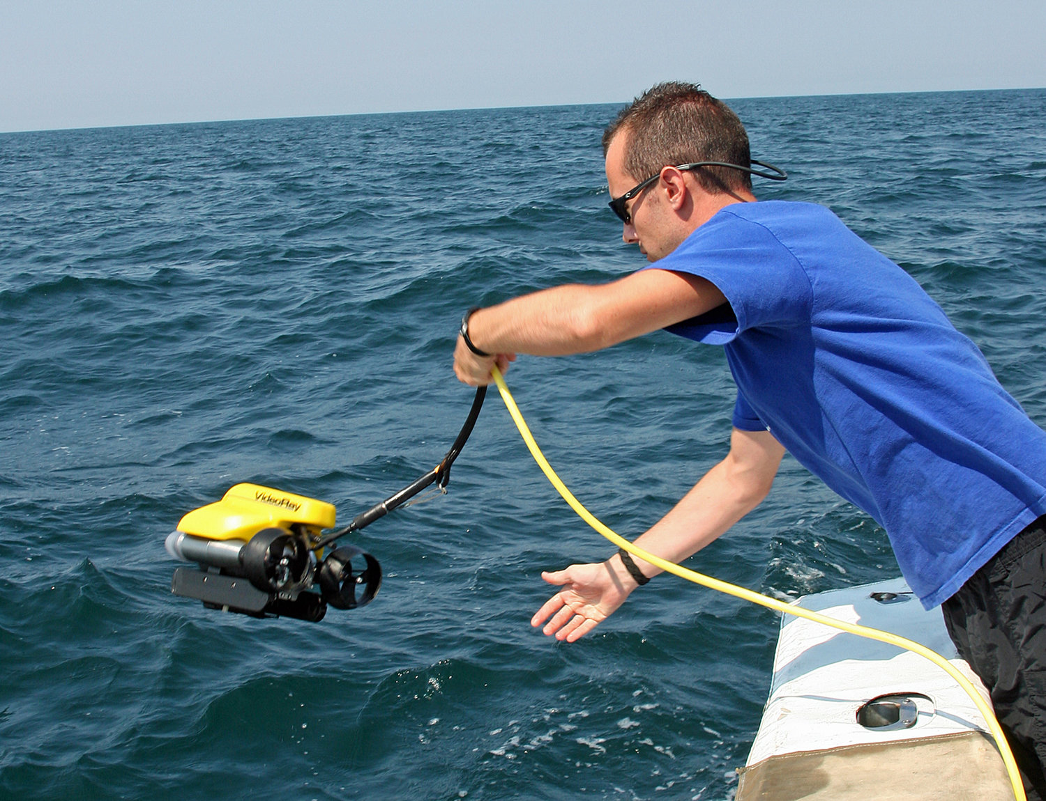 Scientists in the study used ROVs (remotely operated vehicles) to monitor and count red snapper.