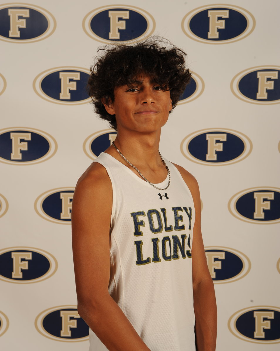 Julian Cruz of Foley tied for the Houston Young Most Outstanding Performer on the boys' track side with Quinton Godfrey from Fairhope.