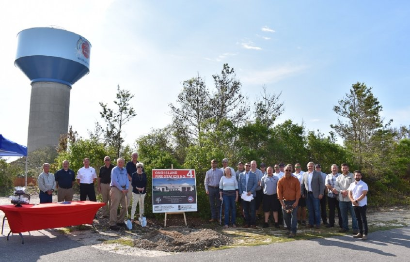 The groundbreaking ceremony for the new Ono Island Fire Station No. 4 was held April 14.