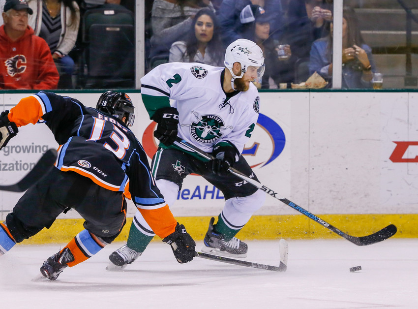 Andrew Bodnarchuk scored the game-winning goal in overtime Friday night to give the Texas Stars a 5-4 win against the San Diego Gulls.
