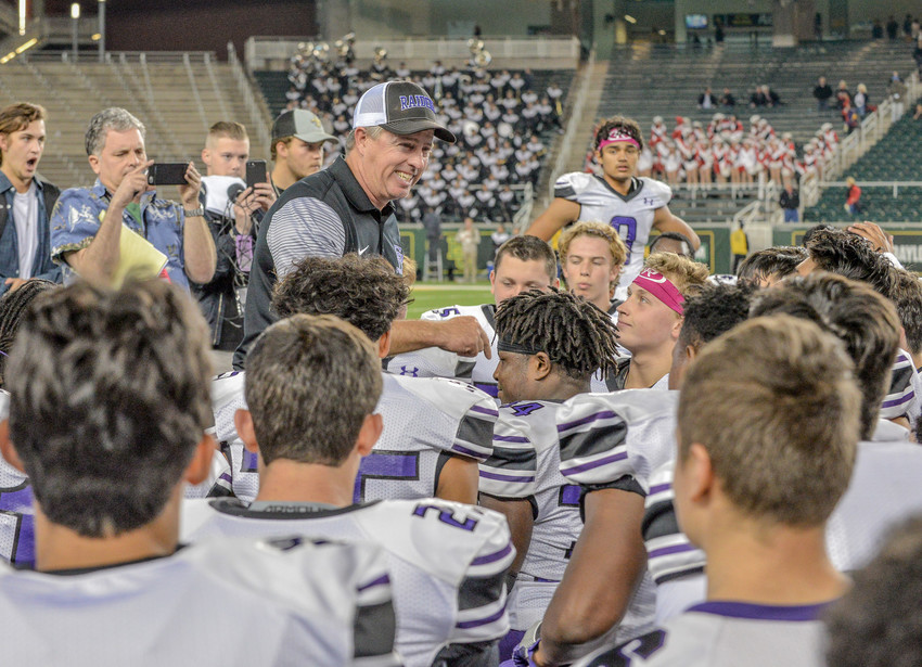 Cedar Ridge coach Sam Robinson has his Raiders in the state semifinals for the first time in program history after a convincing 30-2 victory over Hendrickson on Saturday.