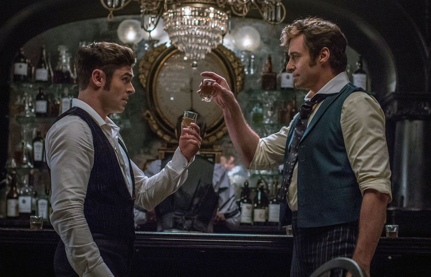 Hugh Jackman (P.T. Barnum) and Zac Efron (Philip Carlisle) star in Twentieth Century Fox's THE GREATEST SHOWMAN.