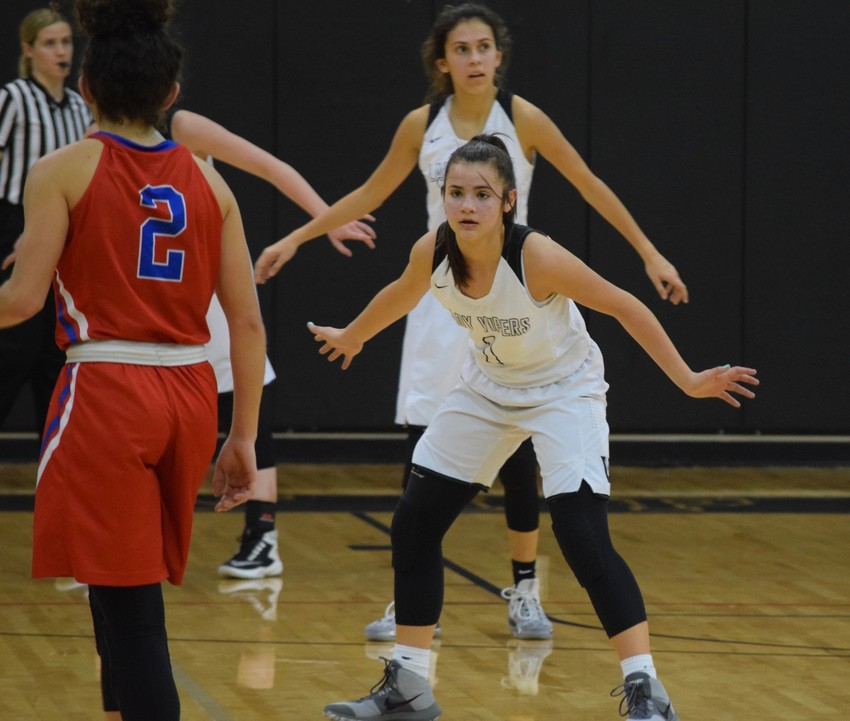 Freshman guard Kaya Pehrson scored 12 points and Vandegrift beat Hays 56-52 in double overtime Wednesday night.