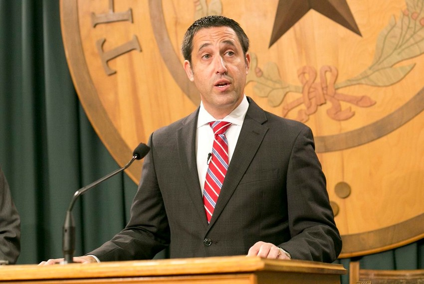 Texas Comptroller Glenn Hegar announces his office has picked a private vendor to run the Texas Bullion Depository, which will be designed to store gold for both the state and private citizens, at the Capitol on June 14, 2017.