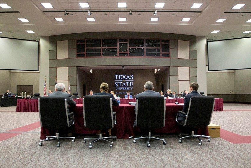 The Senate Committee on State Affairs hearing on free speech on Texas college campuses, held at Texas State University in San Marcos on Jan. 31, 2018.