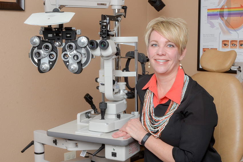 Optometrist Jodie West, of Texas Family Eyecare, was recognized by the Leander Chamber of Commerce as an ambassador for her community service.