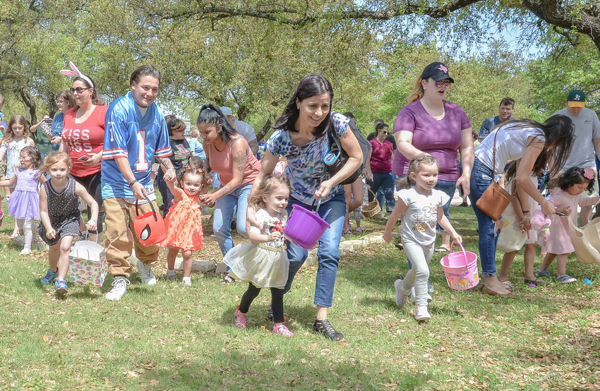 Parents and kiddos by the dozens enjoyed an Easter egg hunt at the Rockbridge Church in Cedar Park on Saturday, March 31.