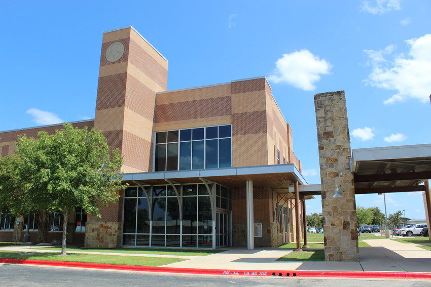 The Leander Independent School District administration building in Leander, Texas.