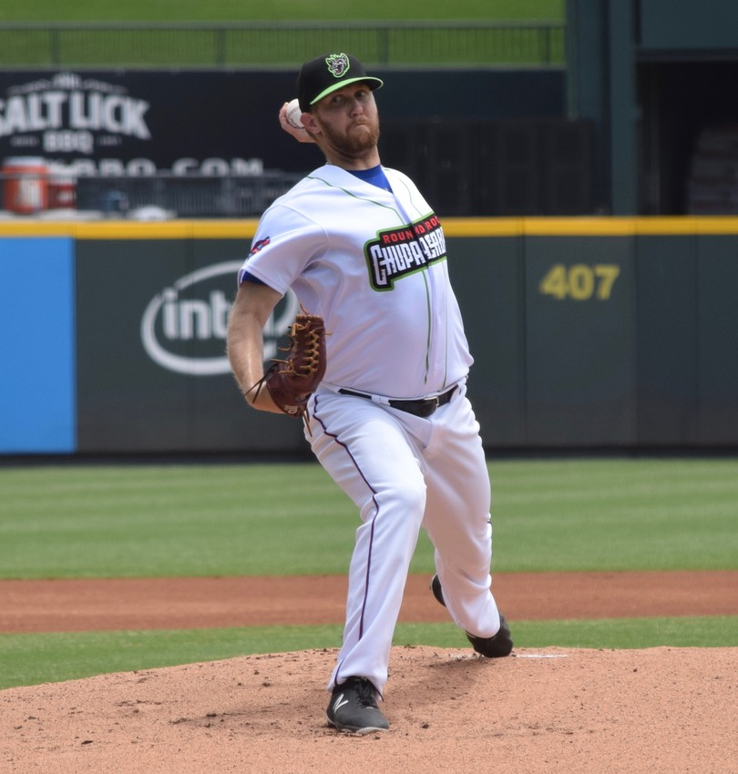 Express starter David Hurlbut allowed one run on three hits with a pair of strikeouts in 4.1 innings of work in Round Rock's 6-1 loss to the Fresno Grizzlies Sunday afternoon.