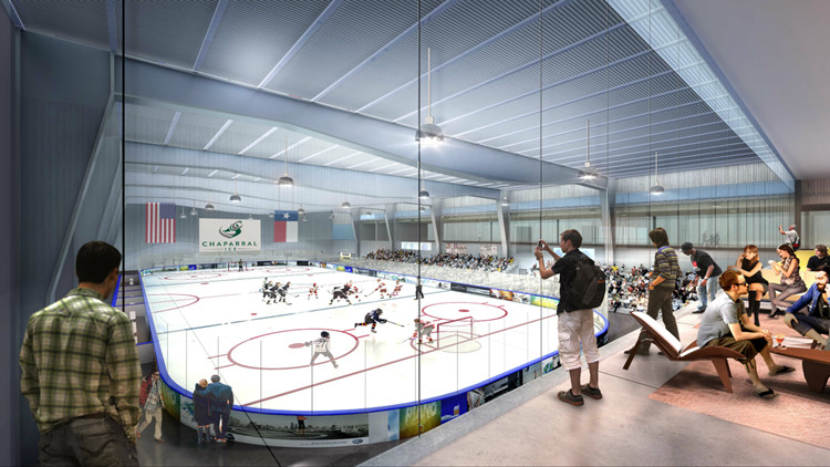 An artist's rendering of the inside of the new iSports facility planned for Cedar Park.