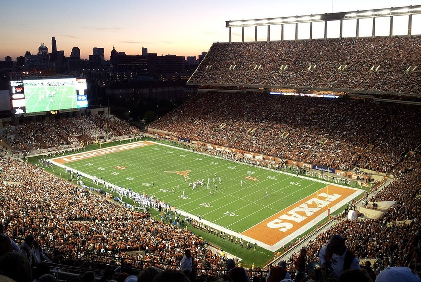 Darrell K Royal–Texas Memorial Stadium in Austin.