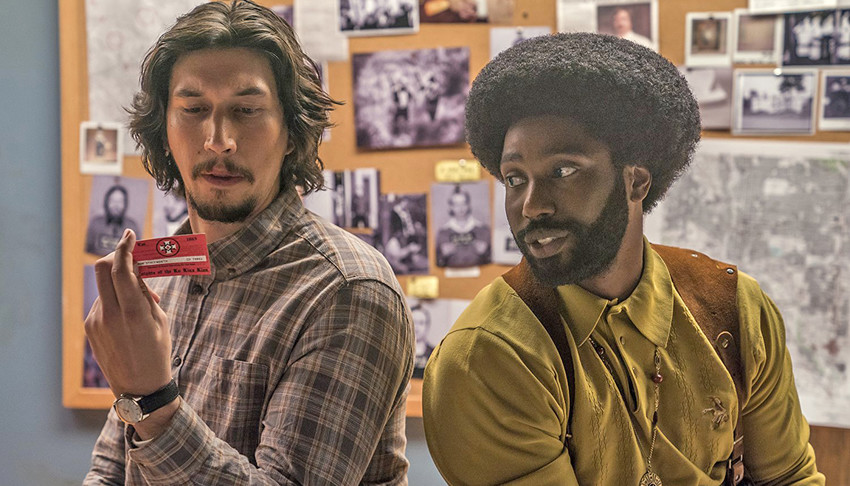 "Adam Driver and John David Washington star in ""BlackKlansman."""