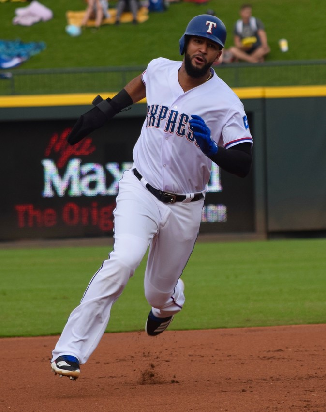 Nomar Mazara spent four games rehabbing with the Round Rock Express and finished with five hits and two RBIs in 12 at-bats.